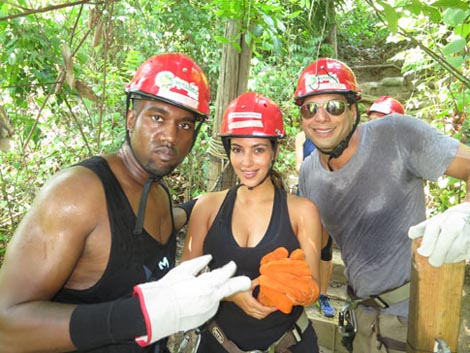 Joe Francis, Kim Kardashian, and Kanye West