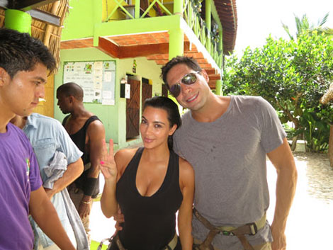 Kim Kardashian and Joe Francis