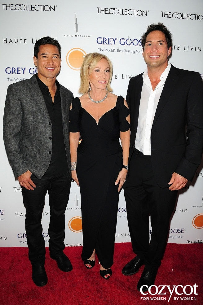 Joe Francis with Mario Lopez and Lea Black