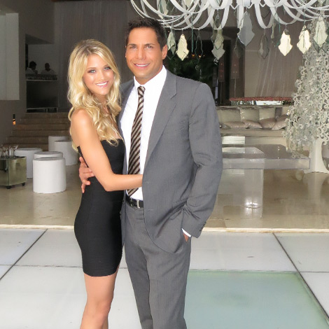 Joe Francis with model Abbey Wilson