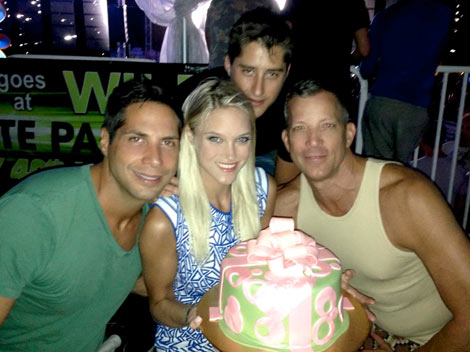 Joe Francis, Abbey Wilson, Martin Beaurivage and David Cooley at the White Party 2013